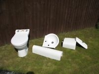 Ceramic toilet, ceramic basin with stand, ceramic cistern