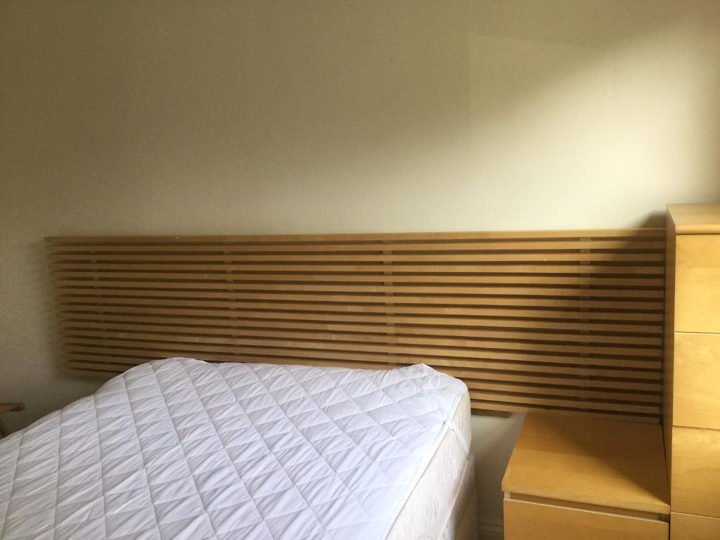 Ikea Solid Wood Headboard For Double Queen Kingsize In Bournemouth