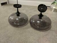 Ceiling lights ( pendant) black/smoke