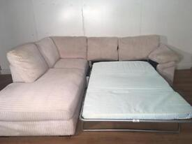 Harveys Cream corner sofa bed with free delivery within 10 miles