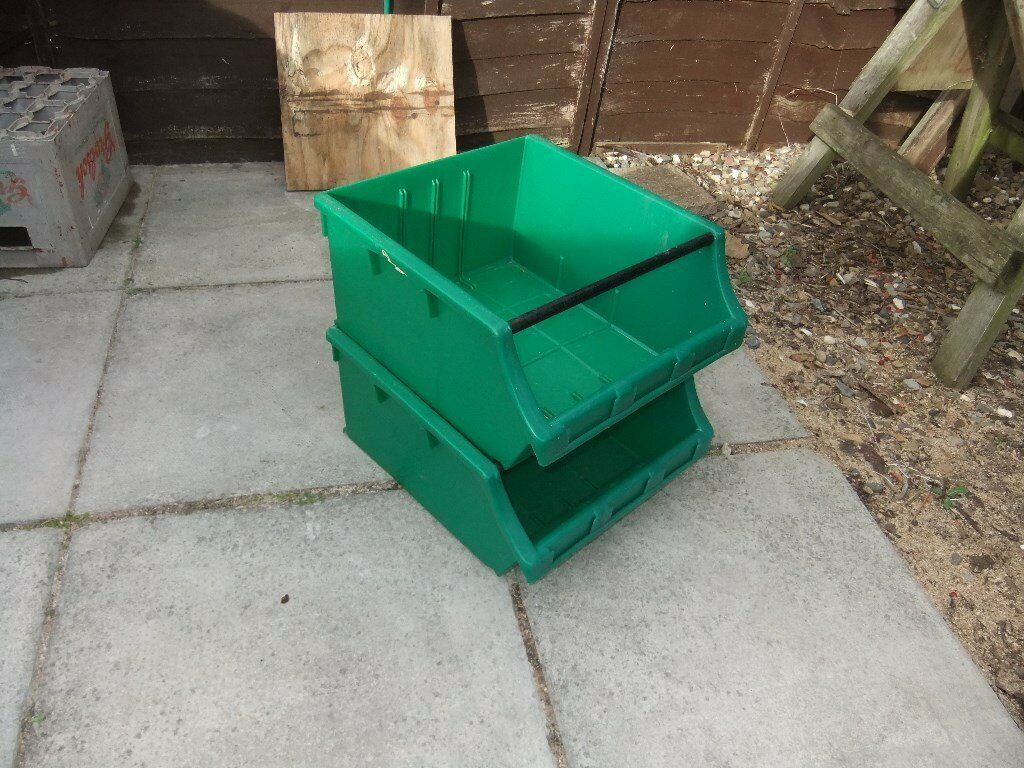 Dexion Maxi Bin 60 stackable bins for garage/workshop