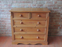 Wooden heavy duty chest of drawers (Delivery)