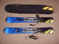 Salomon SB10 Snow Blades Mini Skis with Carry Case