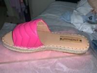 Brand new women's espadrilles sliders size 7