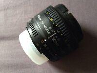 Nikon 50mm f1.8d Prime lens
