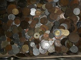 1 kilo of old & modern coins GB / foreign