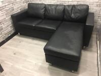 Leather corner sofa dunelm