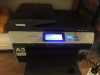 A3,A4 scan, print, copy. (Brother DCP-6690CW) + 2 Red and 1 Black original cartridge