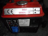 generator small 2 stroke portable quiet running 950w