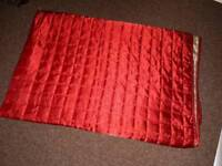 Lovely silky red reversible throw for double bed