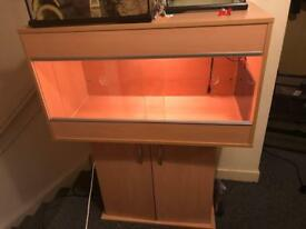 Reptile vivarium - beech - 3ft length- with stand