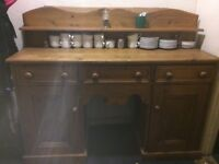 LARGE VINTAGE VICTORIAN STYLE SOLID PINE DRESSER POT CUPBOARD VERY NICE GENUINE ITEM LOCAL DELIVERY