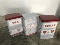 BNIB Next Tea / Coffee and Sugar Caddy Set