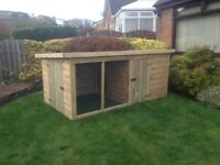 8FT x 4FT Dog Kennel & run T&G timber 10 year anti rot ***Fitting included**