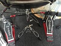 DW5000 Double Bass Pedal with carry case