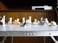 14 Danbury Mint Cats of Character - Cat Figurines Bone China