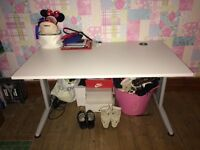 Office desk, cupboard and chair excellent condition