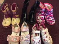5 pair girl size 5-6 shoes