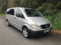 SILVER MERCEDES VITO ONLY 121k MILES EIGHT SEATER