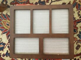 Picture frame for multiple pictures