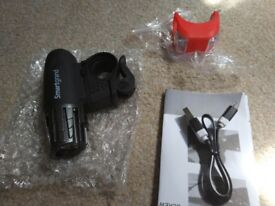 Brand new Bike Light Bike Light Set Bicycle Headlight and Red Tail Light USB Rechargeable