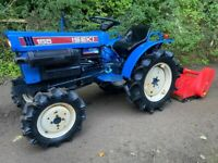 ISEKI 155 4WD Compact Tractor & New 105cm Flail Mower *** NICE TRACTOR *** ** 653 Hours ** all setup