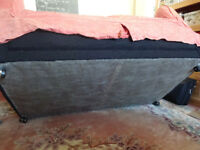 Black/Charcoal fabric Two seater settee