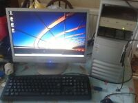 DESKTOP COMPUTER PC , DUAL CORE INTEL PENTIUM CPU, OPTIONAL WIFI, WINDOWS 7/ OFFICE 2010. GWO