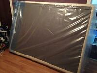 Queen slim box spring still in wrapper