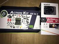 4K Action Cam with 55 piece kit
