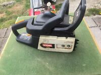 ryobi petrol chainsaw engine runs great needs bar and chain
