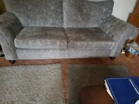 Grey sofa and chair
