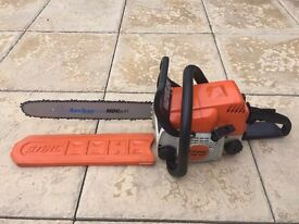 "STIHL MS180 Petrol Chainsaw New 16"" Archer Bar / Chain"