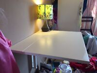 Wall Mounted Drop Leaf Table or Desk Folding Table - ideal for small kitchen or bedroom