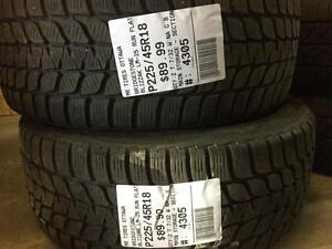 225/45/18 Bridgestone Blizzak LM-25 Runflats Winter tires