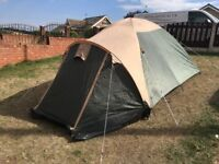 ProAction Dome 3 Man Tent. Good Condition. 2000mm Head. All Kit