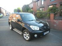 TOYOTA RAV4 2.0 D-4D XT3 05 REG NEW SHAPE BLACK LOW MILEAGE FSH TURBO DIESEL