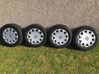 """Skoda / Audi / Volkswagen Wheels / with excellent tyres 16"""" Bargain"""