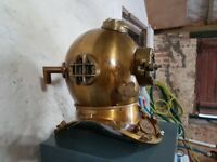 Life Size Replica Brass Diving Helmet
