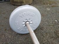 York barbell/dumbell with weights