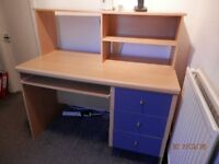 DESK with pullout keyboard shelf & pigeon hole shelves - Reduced Price