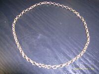 heavy belcher necklace 9 carat solid gold