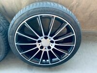 MERCEDES BENZ AMG LINE R18 ALLOYS WITH TYRES
