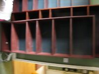 Book shelves three units 6 feet high one seven feet high .free to collect