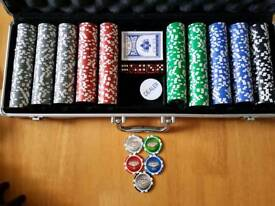 Poker chips in carry case