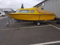 FISHING BOAT,MICROPLUS 501 EXPLORER BOAT, YAMAHA 25HP OUTBOARD ENGINE PLUS NICE TRAILER.