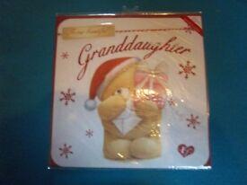 M&S Grandaughter Teddy Christmas Card IP1