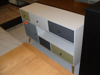 Hygena Retro 1 Door 5 Drawer Sideboard - Multicoloured. (Please call - Michal 07851770393)