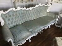 Stunning 4 seater french sofa newly upholstered