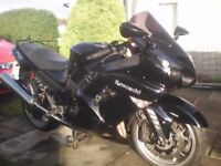 Kawasaki ZZR 1400 08 Very good cond. £4100 or px for 1600 cc plus.